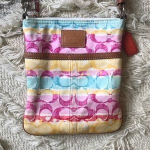 Coach Colorful Fabric Crossbody Bag